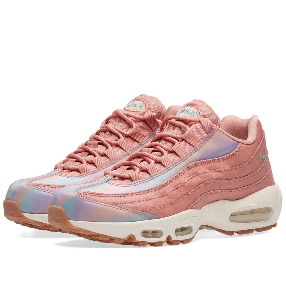 nike air max 95 se damen rot turnschuhe 918413 600. Black Bedroom Furniture Sets. Home Design Ideas