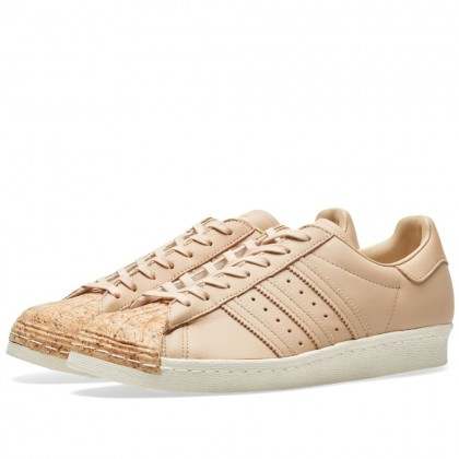 Adidas Originals Damen Superstar 80s Beige/Weiß BA7604
