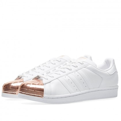 Adidas Damen Superstar Metal Toe Weiß S76532
