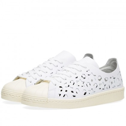 Adidas Damen Superstar 80s Cut Out Schuhe Weiß/Weiß BB2129