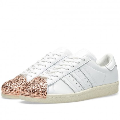 Adidas Damen Originals Superstar 80s 3d Metal Toe Weiß BB2034