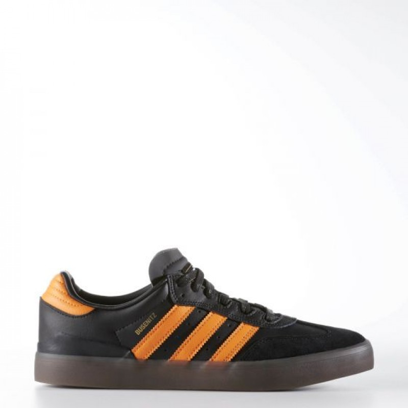 Adidas Herren Originals Busenitz Vulc Samba Edition Schuhe Schwarz/Orange BB8448