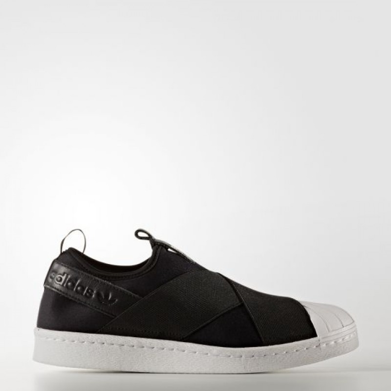 Adidas Damen Originals Superstar Slip-on Schuhe Schwarz S81337