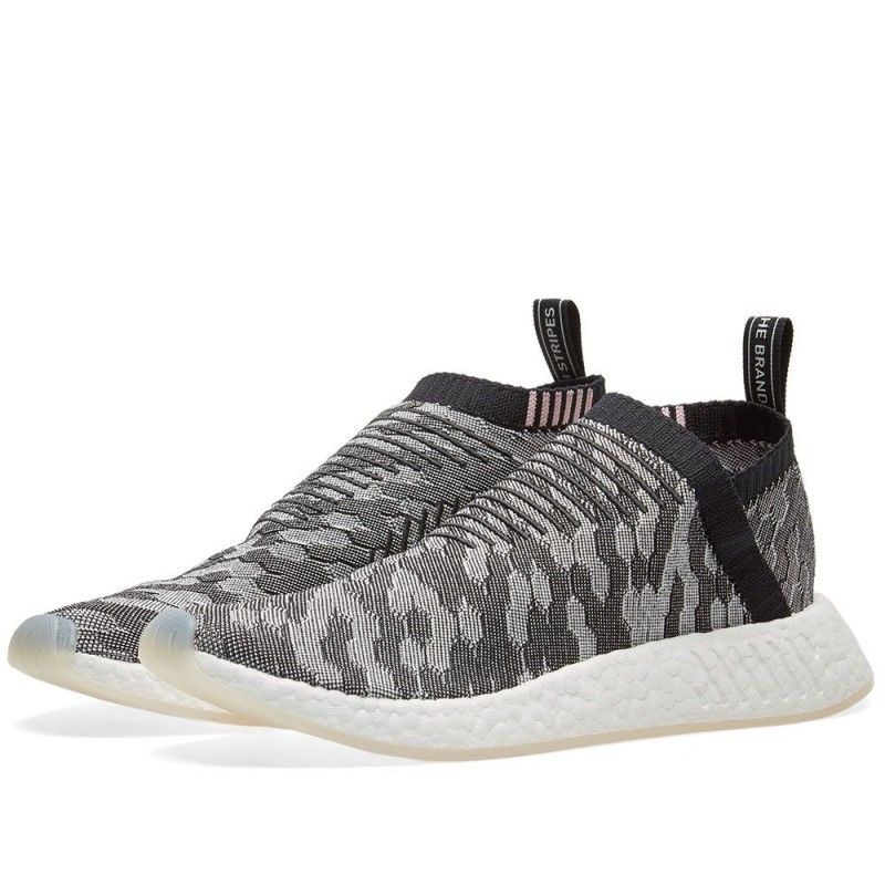 Adidas Damen NMD CS2 Primeknit Grau Glitch BY9312