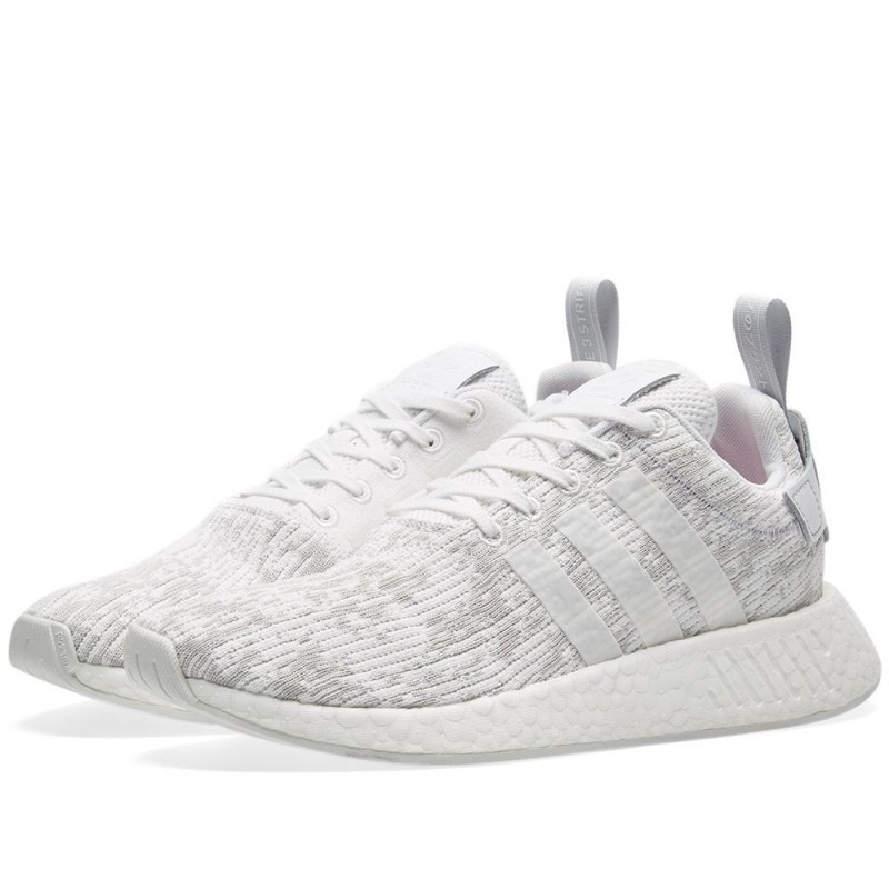 Adidas Damen Originals NMD R2 Boost Weiß/Grau BY8691