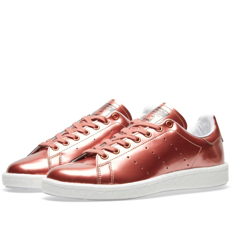 Adidas Originals Damen Stan Smith Boost Metallic Kupfer/Weiß BB0107