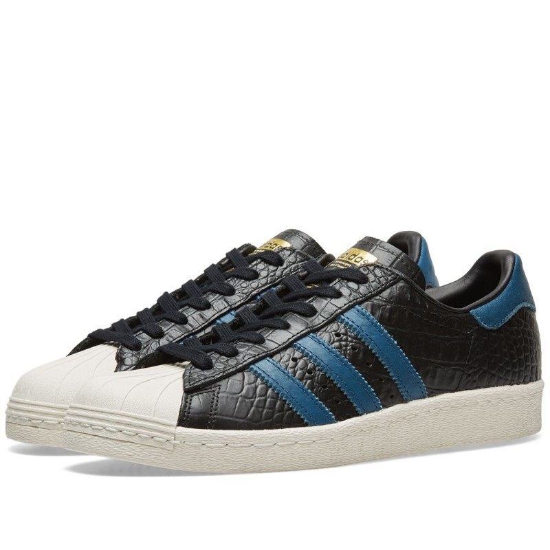 Adidas Originals Superstar 80s Schwarz Blau Herren BB2228