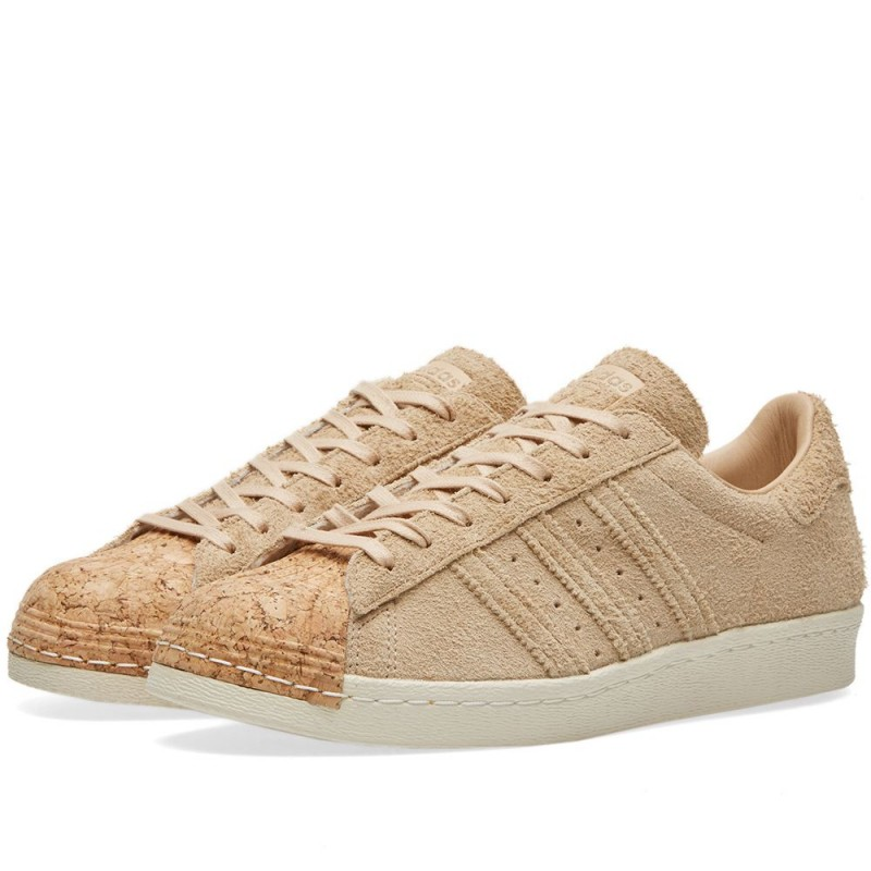 Adidas Damen Originals Superstar 80s Cork beige/Weiß BY2962