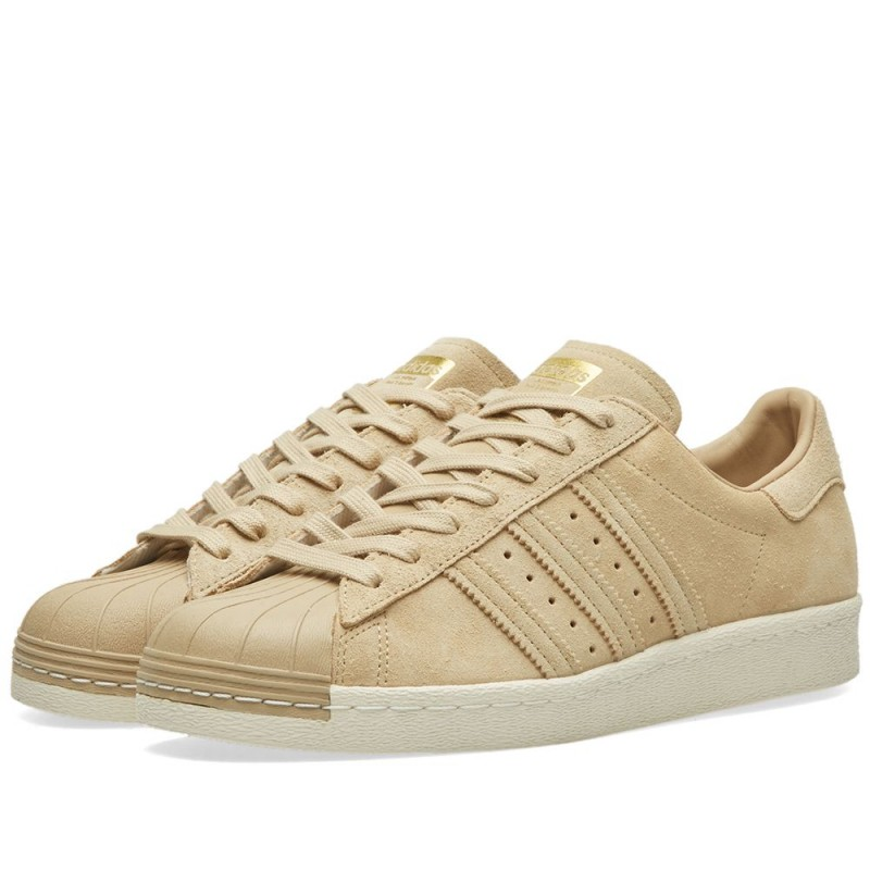 Adidas Damen Superstar 80s Schuhe khaki/gold BB2227