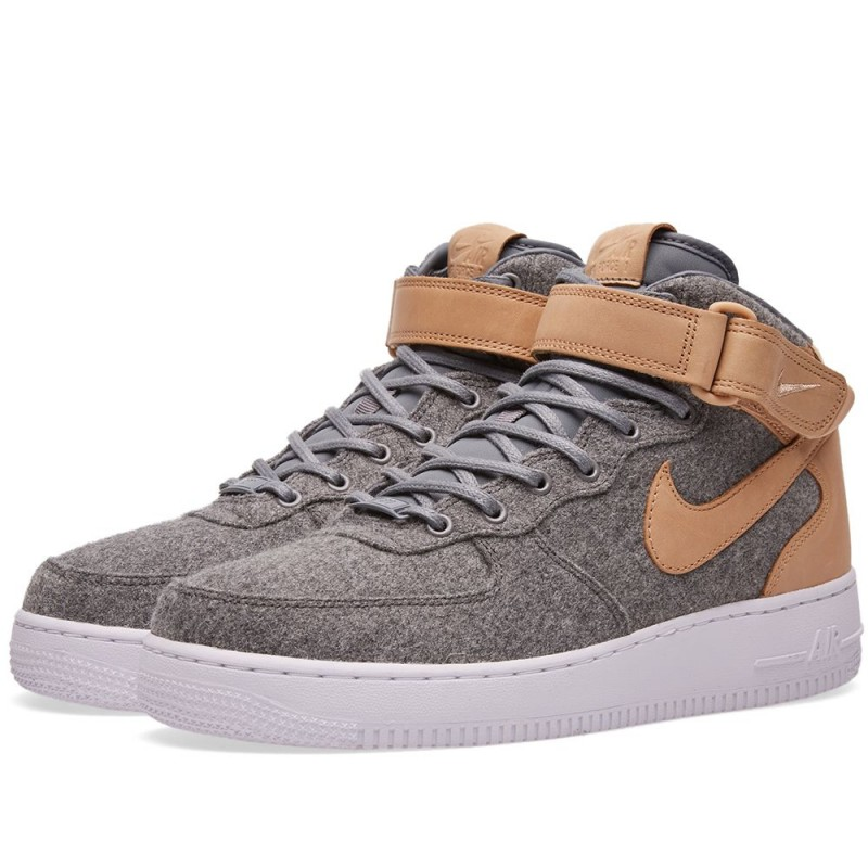 Nike Damen Air Force 1'07 Mid LTHR PRM Hi Top Schuhe 857666-001