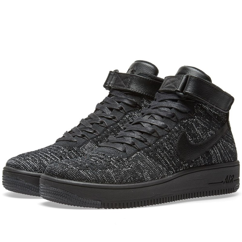 Nike Damen Air Force 1 Flyknit Schwarz 818018-002