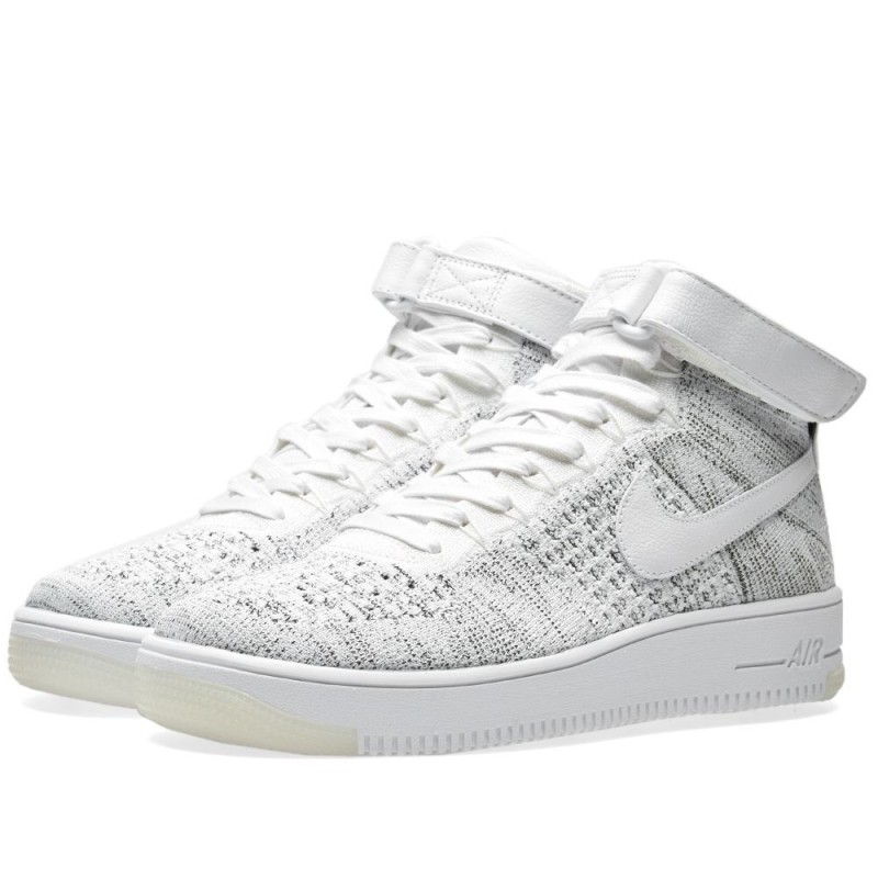 Nike Damen Air Force 1 Flyknit Weiß Schwarz 818018-101