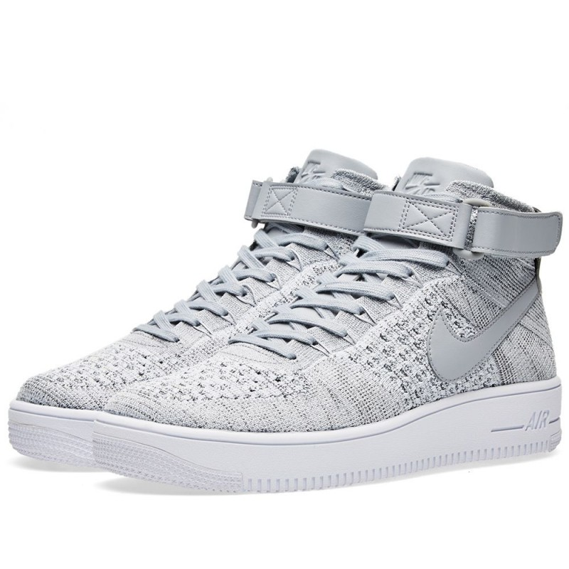 Nike Air Force 1 Ultra Flyknit Mid (Grau/Weiß) 817420-003
