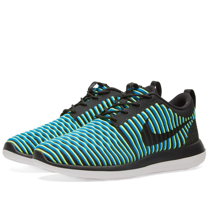 "Nike Damen Roshe Two Flyknit ""Black Photo Blue"" 844929-003"