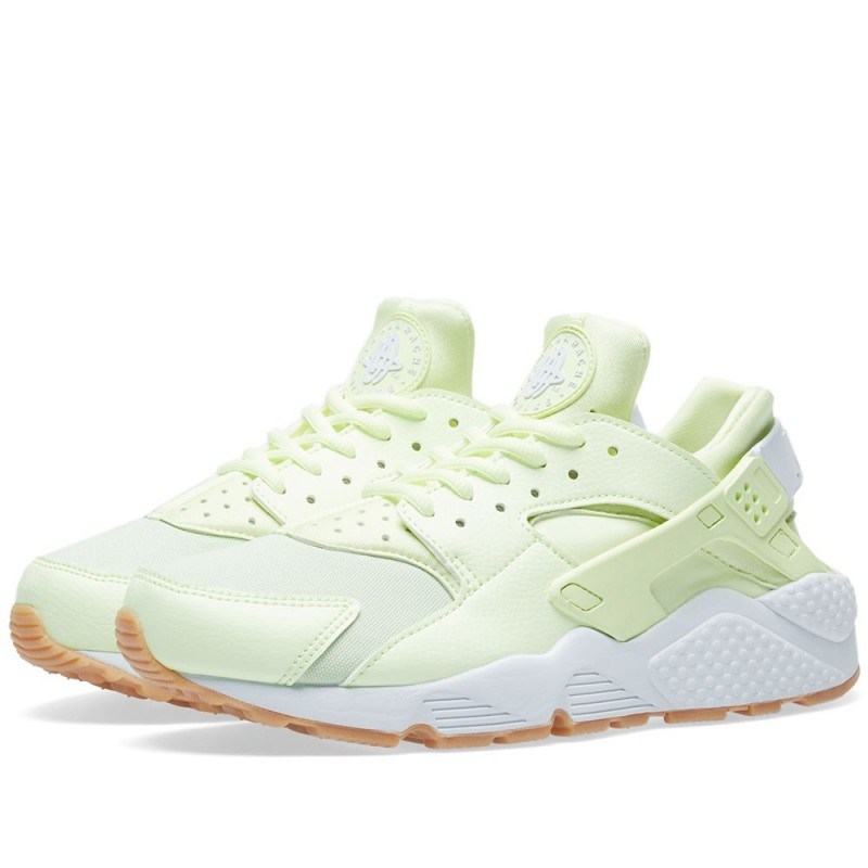 Nike Damen Air Huarache Run Barely Volt Gum LaufSchuhe 634835-702