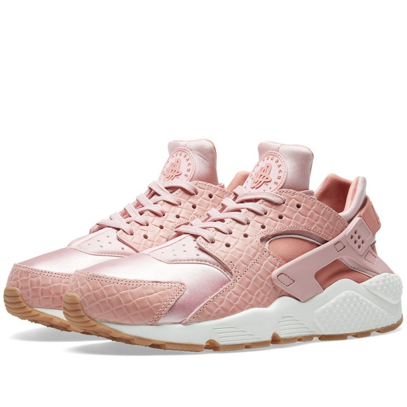 Nike Damen Air Huarache Run Premium Rosa 683818-601