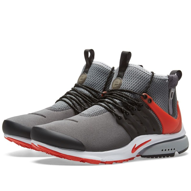 Nike Air Presto Mid Utility Grau Max Orange 859524-004