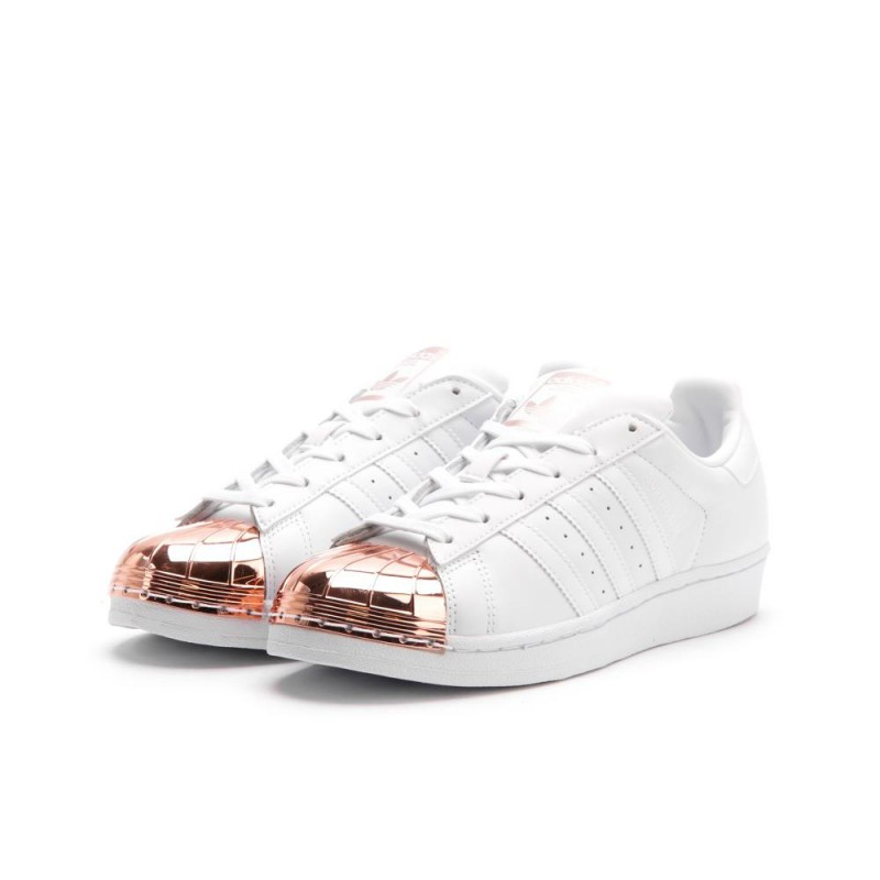 "Adidas Superstar Damen ""metal Toe"" (Weiß/Kupfer) BY2882"